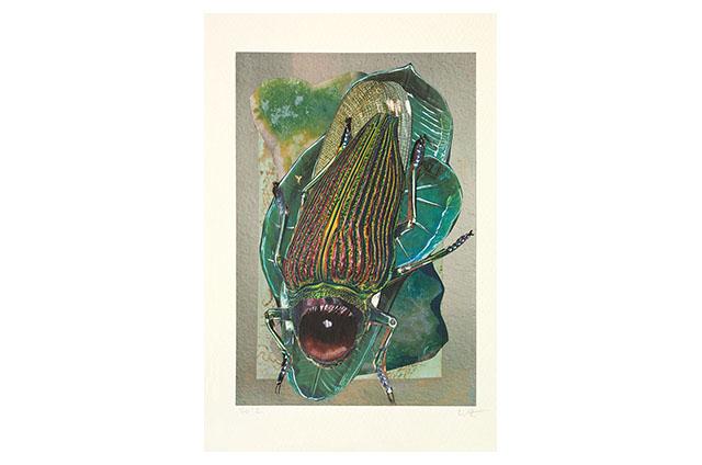 Ohne Titel (aus der Serie «Bestiaires»), 2012, Mischtechnik, 30.6 x 24.7 cm